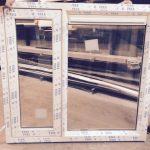 Kunststof kozijn met 1 raam vast + 1 raam draaikiep rechtstreeks uit de fabriek